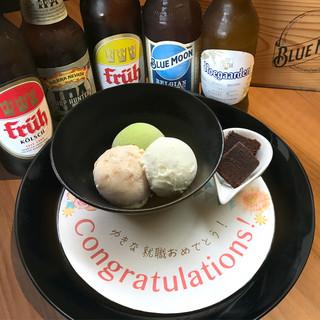 【記念日・お祝いに最適】デザートプレートが無料!