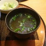 新橋 鶏繁 どんぶり子 - 鶏スープ