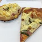 北欧倶楽部 - アスパラとベーコンのピザ・ハムチーズ(2018.07.現在)