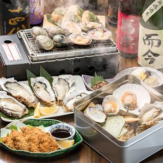自慢の貝料理の数々♪~焼き・蒸し・刺しに、一品料理まで~