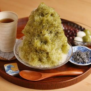 かき氷抹茶
