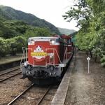 89427316 - トロッコわたらせ渓谷3号を牽引するディーゼル機関車