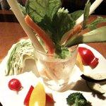 茶屋草木万里野 - フレッシュ野菜のバーニャカウダ 1029円