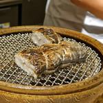 CHIUnE - 太刀魚の炭火焼 ハマグリとニンニクのソースで