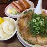 ラーメン魁力屋 - 料理写真:ハムカツ定食