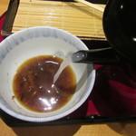 手打そば 元禄 - 蕎麦湯はやや白濁