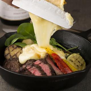 北海道フェア開催中『十勝産ラクレットチーズ&ステーキ』