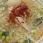 中華そばムタヒロ - 玉ねぎの冷やし鶏塩そば+味タマ♪(限定)