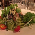 89443590 - 蟹と香味野菜の冷製大葉ジェノベーゼ