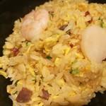 Haifan - パラパラ香ばしい卵に甘めのチャーシューと葱、海鮮チャーハンだけどプリプリの海老と甘い帆立など海鮮の量は少なめ