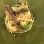 クッチーナ イタリアーナ ガッルーラ - 鮎と酢橘のフェデリーニ