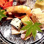 懐石 鷺風 - 有頭海老、穴子寿司、厚焼き玉子など
