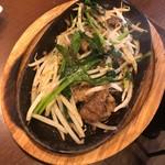 牛スジ山椒ニラ炒め