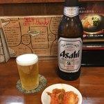 宝華らぁめん - 「ビンビール(大)」620円