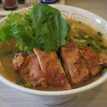 メンヤ フリースタイル - こってり太麺しょうゆヌードル890円