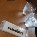 Cafe brunch TAMAGOYA - お水とおしぼり