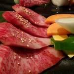 焼肉もとやま - 本日の希少部位二種タレアップ