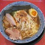 麺屋 風火 - 豚しょうゆ+味付け煮玉子(750円)