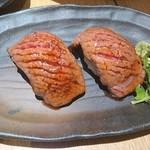 YUMA - 炙り牛トロ握り  480円