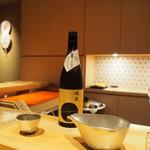 鮨 大和 - 1杯目:杜の蔵 純米大吟醸