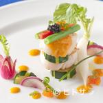 レストラン エヌ・ルトゥール - 『鮮魚のポワレ 完熟トマト入り レッドドレッシングソース』