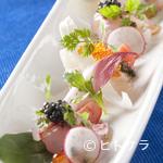 レストラン エヌ・ルトゥール - 『鮮魚達のカルパッチョ仕立て ネギと土佐醤油のソース』