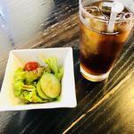 cafe KAWANO - サラダ  アイスティー