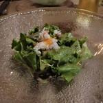 鉄板 ニシムラ - カニミソソースのサラダ
