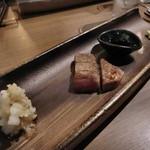 鉄板 ニシムラ - A5黒毛和牛サーロインステーキ50g