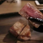 鉄板 ニシムラ - 焼き加減は、ミディアムレア