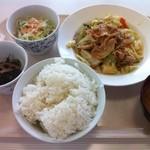 札幌市建設局下水道庁舎食堂 - A定食(肉野菜炒め)