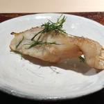 菊鮨 - のど黒(対馬)・・レア感が残る絶妙な焼き具合。脂がのり美味しいこと。