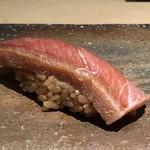 菊鮨 - 大トロづけ・・これ秀逸。づけにすることで、脂がより上品になりとても美味しい。