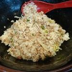 89476556 - タレ追加、肉増し後にご飯(普通)を混ぜたもの