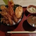 北浜あなごや 日本酒と酒肴 - 海老と穴子の天丼