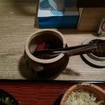 北浜あなごや 日本酒と酒肴 - きゅうりと生姜の紫蘇漬け