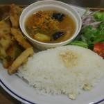 スタンダードブックストア あべの - 豚フリットと揚げ茄子スープ煮