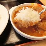 松屋 - スープカレー風の食べ方