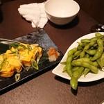 霧島屋 - だし巻き玉子&枝豆