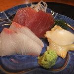 すし市場 なか安 - 上寿司御膳に付いているお刺身