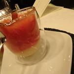 フェリス - ーGazpachoー フルーツのガスパッチョ エスプーマ グラニテ 層
