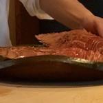 菊鮨 - 立派な団扇海老・・こんな大きさの品を見たのは初めて。