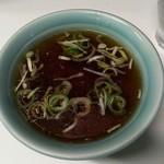 五番 - スープ付きです。
