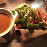 CAY - 季節野菜のバーニャカウダ 八丁味噌ソース