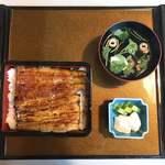 正徳寺温泉 初花 - 料理写真:うな重蓋開けた!