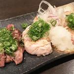 日本酒×ワイン ノンベエ エビス - 『赤鶏全部盛』