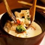 ビストロ シェブン - オマールと里芋のポタージュ