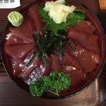 伊澤家 - ツレのまぐろ漬け丼アップ