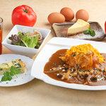 卵's工房 - 【レディースセット】サラダ、オードブル、選べるオムライス、選べる自家製デザート、お好きなドリンク 昼980円 / 夜1280円