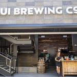 Maui Brewing Company - ある意味殺風景な店舗入り口。